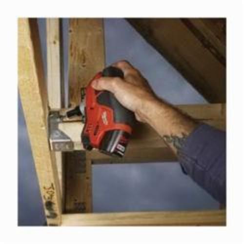 Milwaukee® 2458-21 M12™ Cordless Palm Nailer Kit, 6D to 16D Fastener, For Fastener Type: Framing, 7-1/2 in OAL, Battery