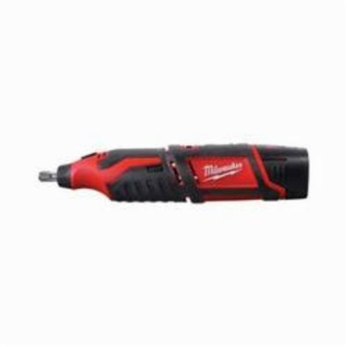 Milwaukee® 2460-21 M12™ Cordless Rotary Tool Kit, 12 VDC, 5000 to 32000 rpm, Lithium-Ion Battery, Slide ON/OFF With Speed Dial Switch