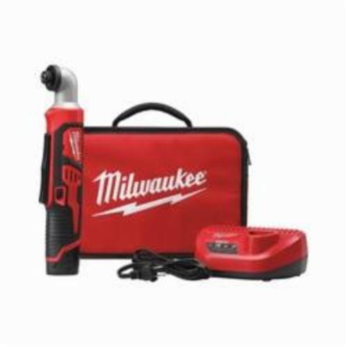 Milwaukee® 2467-21 M12™ Right Angle Cordless Impact Driver Kit, 1/4 in Hex Drive, 0 to 3300 ipm, 600 in-lb, 12 VAC, 12.1 in OAL