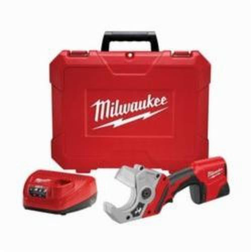 Milwaukee® 2470-21 M12™ Cordless PVC Shear Kit, 2 in Cutting, 14-3/8 in OAL, Lithium-Ion Battery