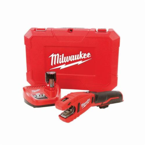Milwaukee® 2471-21 M12™ Cordless Copper Tubing Cutter Kit, 1/2 to 1-1/8 in OD Cutting, 12 VDC, Lithium-Ion Battery