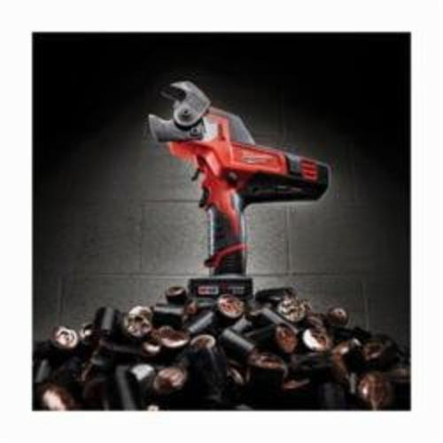 Milwaukee® M12™ REDLITHIUM™ 2472-20 Cordless Cable Cutter, 600 kcmil Copper, 750 kcmil Aluminum Cutting, 12 VDC, 1.5 to 4 Ah Lithium-Ion Battery, Tool Only