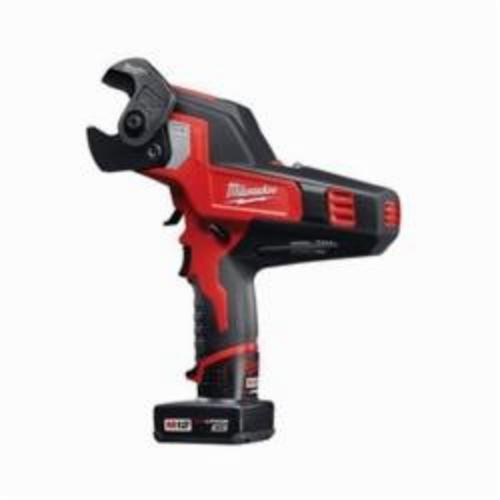 Milwaukee® 2472-21XC M12™ REDLITHIUM™ Cordless Cable Cutter Kit, 600 MCM Copper, 750 MCM Aluminum, 1-3/16 in Communication Cable Cutting Capacity, 12 VDC, 3 Ah Lithium-Ion Battery