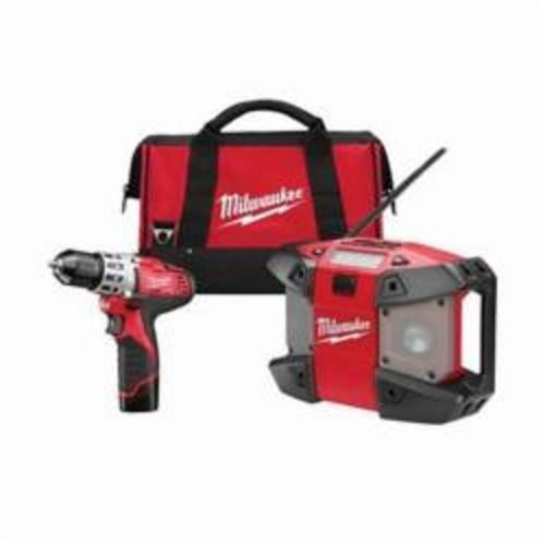 Milwaukee® 2492-22 M12™ Cordless Combination Kit, Tools: Drill, 12 VDC, 1.5 Ah Lithium-Ion, 3.8 in Drill