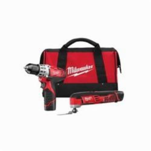 Milwaukee® M12™ 2495-22 2-Tool Cordless Combination Kit, Tools: Drill, Oscillating Tool, 12 VDC, 1.5 Ah Lithium-Ion, Keyless Blade