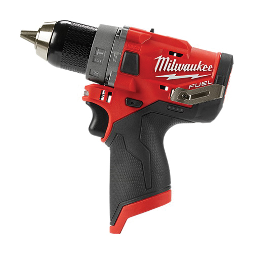 Milwaukee® 2504-20 M12 FUEL™ Cordless Hammer Drill, 1/2 in Keyless Chuck, 350 in-lb Torque, 12 VAC, Lithium-Ion Battery