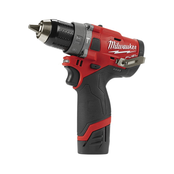 Milwaukee® M12™ FUEL™ 2504-22 Cordless Hammer Drill Kit, 1/2 in Keyless Chuck, 12 VAC, 0 to 450 rpm, 0 to 1700 rpm No-Load, Lithium-Ion Battery