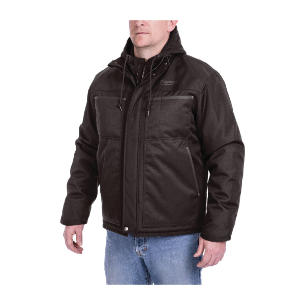 Milwaukee® 251B-21XL M12™ 3-in-1 Insulated Heated Jacket Kit, XL, Black, Brushed Tricot/Polyester, 39 to 41 in Chest, Resists: Water and Wind