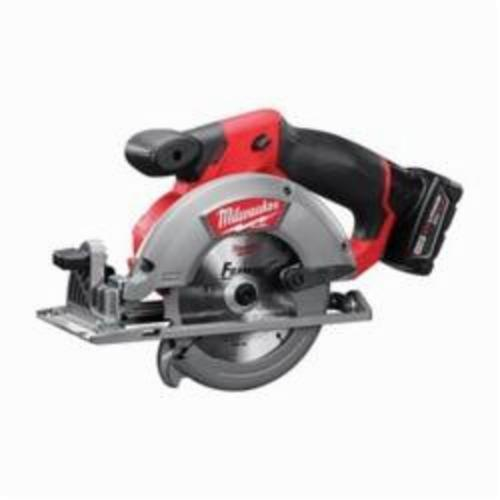Milwaukee® 2530-21XC M12™ FUEL™ Cordless Circular Saw Kit, 5-3/8 in, 5-1/2 in Blade, 10 mm Arbor/Shank, 12 VDC, Lithium-Ion Battery