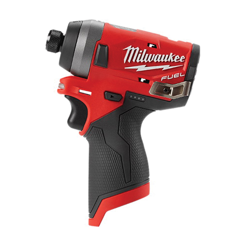 Milwaukee® 2553-20 M12 FUEL™ Cordless Impact Driver, 1/4 in Hex Drive, 4000 bpm, 1300 in-lb Torque, 12 VAC