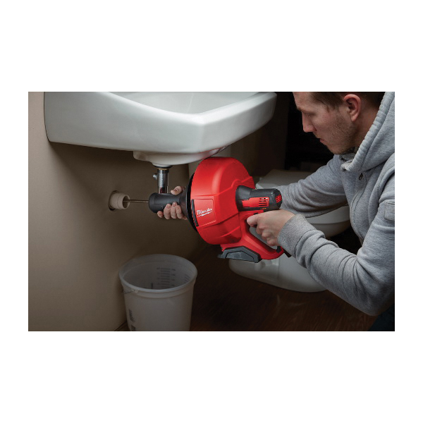 Milwaukee® M12™ 2571-20 Cordless Drain Snake, 1-1/4 to 2-1/2 in Drain Line, 25 ft Max Run, 12 VDC, Metal Housing