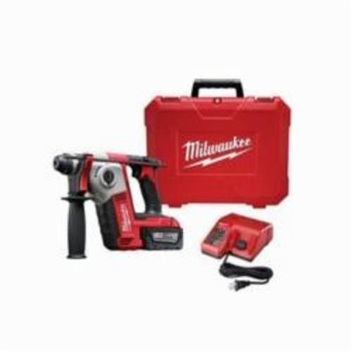 Milwaukee® 2612-21 M18™ Cordless Rotary Hammer Kit, 5/8 in Keyless/SDS Plus® Chuck, 18 VDC, 1300 rpm No-Load, Lithium-Ion Battery