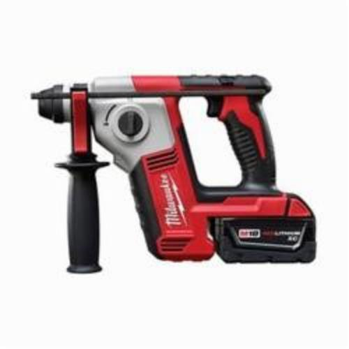 Milwaukee® M18™ 2612-22 Cordless Rotary Hammer Kit, 5/8 in Keyless/SDS Plus® Chuck, 18 VDC, 1300 rpm No-Load, Lithium-Ion Battery