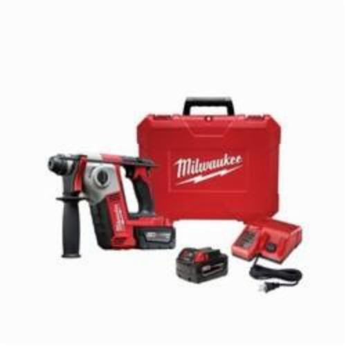 Milwaukee® 2612-22 M18™ Cordless Rotary Hammer Kit, 5/8 in Keyless/SDS Plus® Chuck, 18 VDC, 1300 rpm No-Load, Lithium-Ion Battery