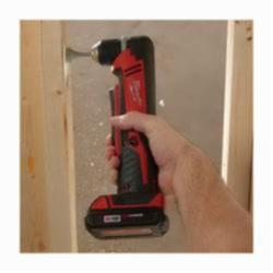 Milwaukee® 2615-21CT M18™ REDLITHIUM™ Cordless Right Angle Drill Kit, 3/8 in Keyless/Single Sleeve Chuck, 18 VDC, 100 in-lb Torque, 0 to 1500 rpm No-Load, 11 in OAL, Lithium-Ion Battery