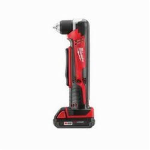 Milwaukee® 2615-21CT M18™ REDLITHIUM™ Cordless Right Angle Drill Kit, 3/8 in Keyless/Single Sleeve Chuck, 18 VDC, 100 in-lb, 0 to 1500 rpm No-Load, 11 in OAL, Lithium-Ion Battery