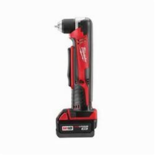 Milwaukee® 2615-21 M18™ REDLITHIUM™ Cordless Right Angle Drill, 3/8 in Keyless/Single Sleeve Chuck, 18 VDC, 125 in-lb, 0 to 1500 rpm No-Load, 3-3/4 in OAL, Lithium-Ion Battery