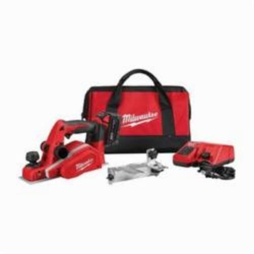 Milwaukee® 2623-21 M18™ Planer Kit, 3-1/4 in W Cutting, 5/64 in Depth of Cut, 14000 rpm, 18 VDC, REDLITHIUM™ XC™ Battery