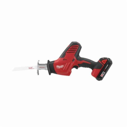 Milwaukee® 2625-21CT M18™ 1-Handed Anti-Vibration Cordless Reciprocating Saw Kit, 3/4 in L Stroke, 3000 spm, Straight Cutting, 18 VDC, 13 in OAL