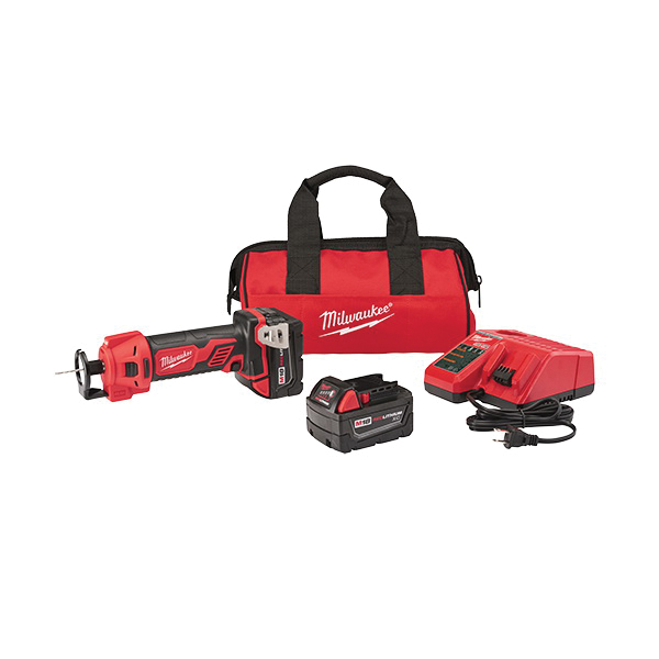 Milwaukee® 2627-22CT Cut Out Tool Kit, 3 Ah Li-Ion Battery, 18 VDC