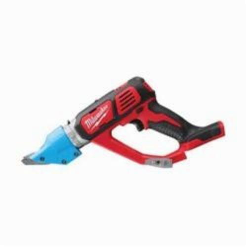 Milwaukee® 2636-20 M18™ Double Cut Cordless Shear, 16 ga Stainless Steel, 14 ga Steel Cutting, 2300 spm, 15.2 in OAL, Lithium-Ion Battery
