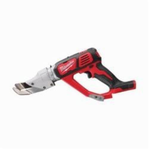 Milwaukee® 2637-20 M18™ Single Cut Cordless Shear, 20 ga Stainless Steel, 18 ga Steel Cutting, 2300 spm, 16-1/2 in OAL, Lithium-Ion Battery