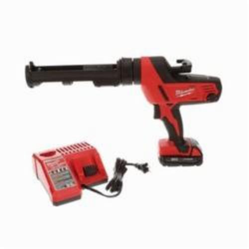 Milwaukee® 2641-21CT M18™ Cordless Caulk Gun Kit, 10 oz, 950 lb, 18 VDC, Lithium-Ion Battery, Metal Housing