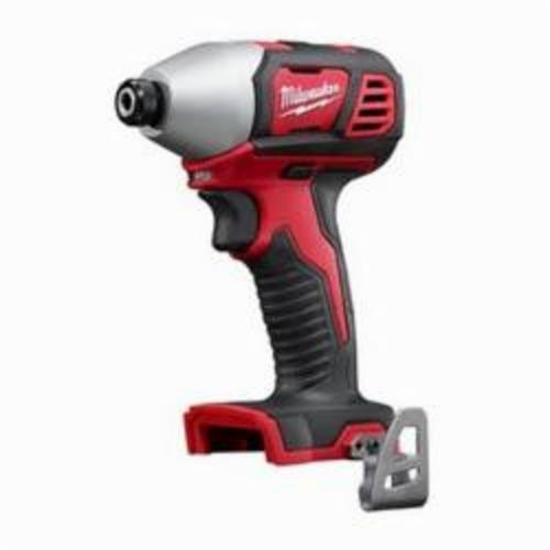 Milwaukee® M18™ 2656-20 Compact Cordless Impact Driver With Belt Clip, 1/4 in Hex/Straight Drive, 3450 bpm, 1500 in-lb Torque, 18 VAC, 5-1/2 in OAL