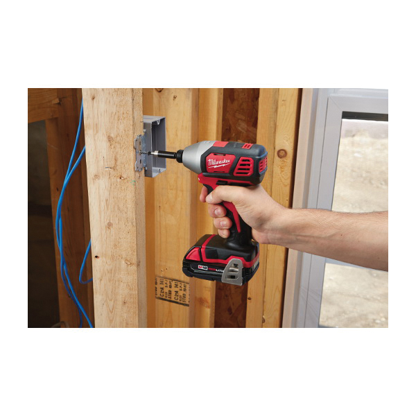 Milwaukee® 2656-22CT Compact Impact Driver Kit, 1/4 in Hex Drive, 3450 bpm, 1500 in-lb Torque, 18 V