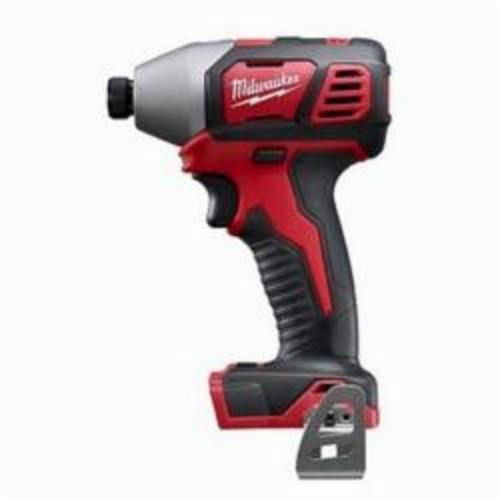 Milwaukee® 2657-20 M18™ 2-Speed Compact Cordless Impact Driver With Belt Clip, 1/4 in Hex/Straight Drive, 3450 bpm, 1500 in-lb, 18 VAC, 5-1/2 in OAL