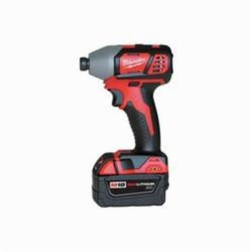 Milwaukee® 2657-22 M18™ Compact Cordless Impact Driver Kit, 1/4 in Hex/Straight Drive, 0 to 3350 bpm, 1500 in-lb, 18 VAC, 5-1/2 in OAL