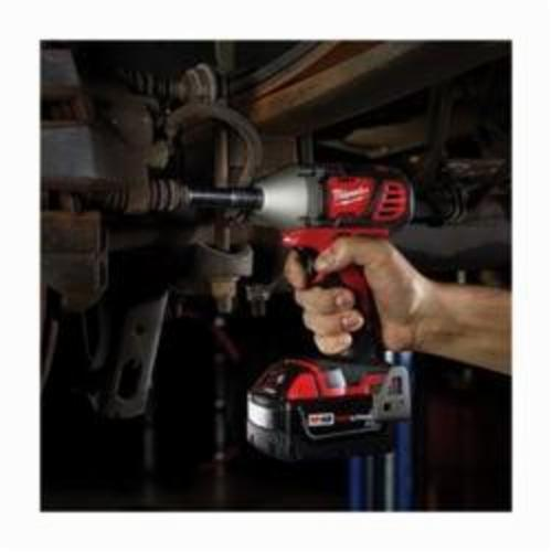 Milwaukee® M18™ 2658-22 Compact Cordless Impact Wrench Kit With Friction Ring, 3/8 in Straight Drive, 0 to 3350 bpm, 167 ft-lb Torque, 18 VDC, 6 in OAL