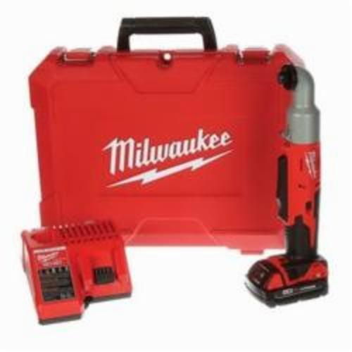 Milwaukee® 2667-21CT M18™ 2-Speed Compact Right Angle Cordless Impact Driver Kit, 1/4 in Hex/Right Angle Drive, 2400 bpm Mode 1, 3400 Mode 2, 350 in-lb (Mode 1), 675 in-lb (Mode 2), 18 VAC, 13-1/4 in OAL