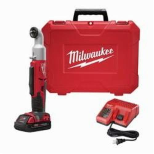 Milwaukee® 2667-22 M18™ 2-Speed Compact Right Angle Cordless Impact Driver Kit, 1/4 in Hex/Right Angle Drive, 2400 bpm Mode 1, 3400 Mode 2, 350 in-lb (Mode 1), 675 in-lb (Mode 2), 18 VAC, 14-1/8 in OAL