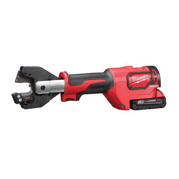 Milwaukee® M18™ 2672-21S FORCE LOGIC™ Cordless Cable Cutter Kit, 1000 kcmil Aluminum, 750 kcmil Copper Cutting, 18 VDC, 2 Ah Lithium-Ion Battery
