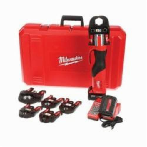 Milwaukee® 2673-22 M18™ FORCE LOGIC™ Press Tool Kit, 1/2 to 4 in Copper, 1/2 to 1 in Stainless Steel Capacity, 7200 lb, 18 VDC, M18™ REDLITHIUM™ Battery