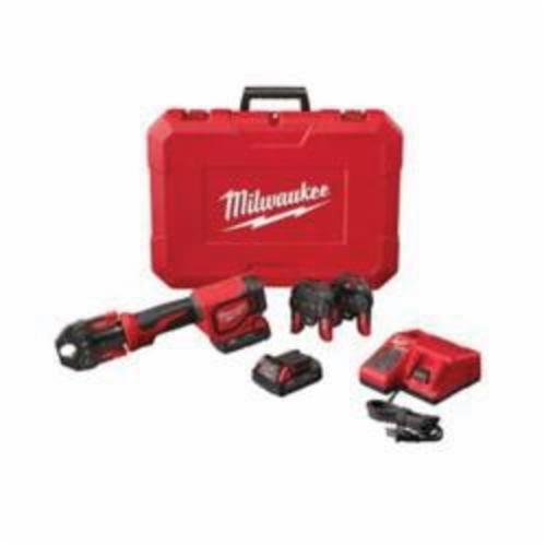 Milwaukee® M18™ 2674-22C Press Tool Kit With PEX Crimp Jaws, Up to 1 in Crimping, 18 VDC, M18™ Redlithium™ Lithium-ion Battery, 13-1/2 in OAL