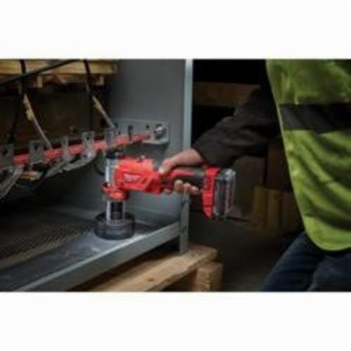 Milwaukee® M18™ 2677-20 FORCE LOGIC™ Knockout Tool Kit, 1/2 to 4 in Mild Steel Max Cutting, 11.7 in OAL