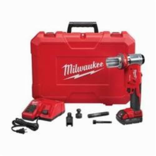Milwaukee® 2677-20 M18™ FORCELOGIC™ Knockout Tool Kit, 1/2 to 4 in Mild Steel Max Cutting, 11.7 in OAL
