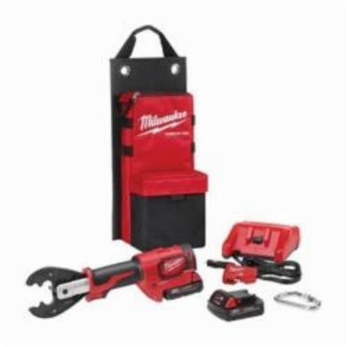 Milwaukee® 2678-22BG M18™ FORCE LOGIC™ Utility Crimping Kit With D3 Grooves and Fixed BG Die, 6 ton Crimping, 18 VDC, Lithium-Ion Battery