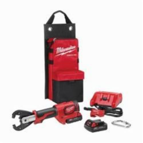 Milwaukee® 2678-22K M18™ FORCE LOGIC™ Utility Crimping Kit With Kearney Grooves, 6 ton Crimping, 18 VDC, Lithium-Ion Battery