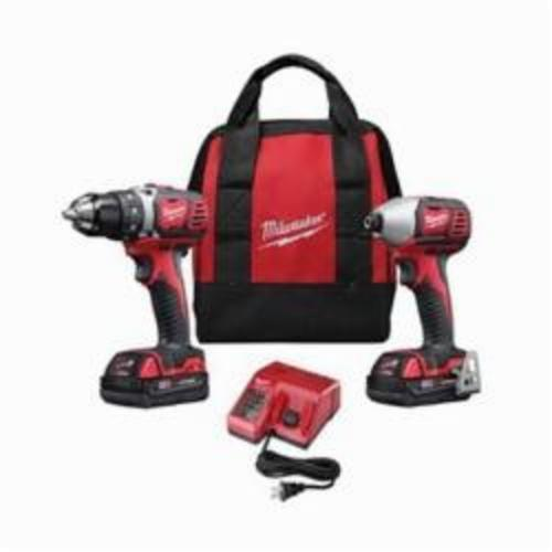 Milwaukee® 2691-22 M18™ Cordless Combination Kit, Tools: Compact Driver, Impact Driver, 18 VDC, 1.5 Ah Lithium-Ion, Brushed Motor