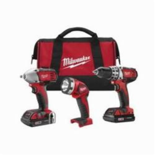 Milwaukee® 2691-23 M18™ Cordless Combination Kit, Tools: Compact Drill Driver, Impact Wrench, 18 VDC, 1.5 Ah Lithium-Ion, Keyless