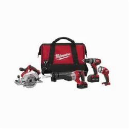 Milwaukee® 2694-24 M18™ Cordless Combination Kit, Tools: Circular Saw, Hammer Drill, Reciprocating Saw, 18 VDC, 3 Ah Lithium-Ion