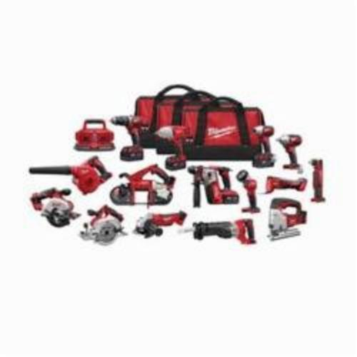Milwaukee® 2695-15 M18™ 15-Tool Cordless Combination Kit, 18 VDC, 4 Ah Lithium-Ion, Keyless Blade