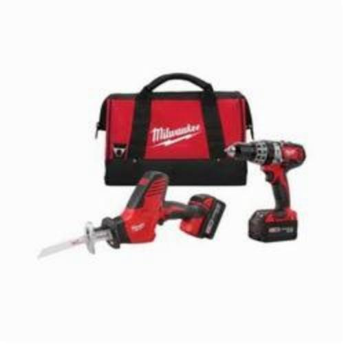 Milwaukee® 2695-22 M18™ Cordless Combination Kit, Tools: Hammer Drill, Reciprocating Saw, 18 VDC, 3 Ah Lithium-Ion, Keyless