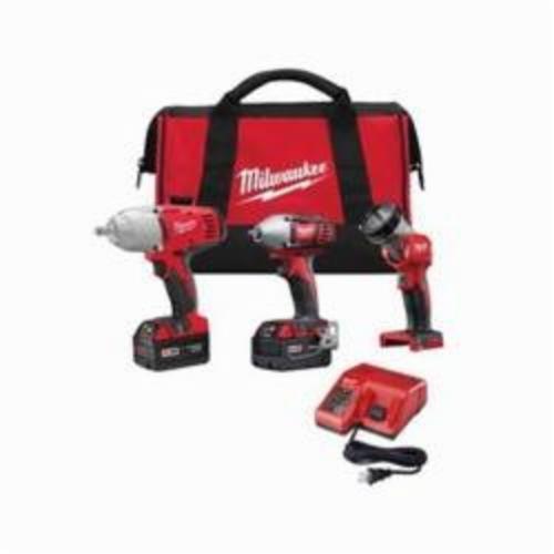 Milwaukee® 2696-23 M18™ Cordless Combination Kit, Tools: Compact Impact, Impact Wrench, 18 VDC, Lithium-Ion, Keyless