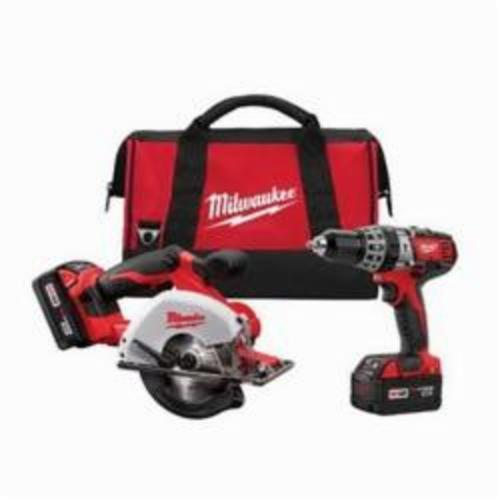 Milwaukee® M18™ 2698-22 2-Tool Cordless Combination Kit, Tools: Hammer Drill, Metal Cutting Saw, 18 VDC, 3 Ah Lithium-Ion Battery, Keyless Blade