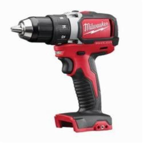 Milwaukee® 2701-20 M18™ Compact Cordless Drill/Driver, 1/2 in Chuck, 18 VDC, 0 to 450/0 to 1800 rpm No-Load, 6-7/8 in OAL, Lithium-Ion Battery, Tool Only