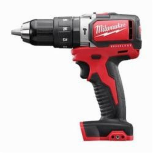 Milwaukee® 2702-20 M18™ Brushless Hammer Drill/Driver, 1/2 in Keyless Chuck, 18 VDC, 450/1800 rpm No-Load, Lithium-Ion Battery